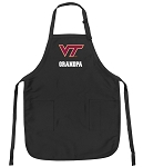 Official Virginia Tech Grandpa Apron Black