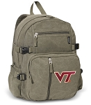 Virginia Tech Canvas Backpack Olive