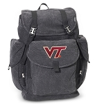 Virginia Tech LARGE Canvas Backpack Black