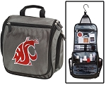 Washington State University Toiletry Bag or Shaving Kit Gray