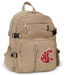 Washington State Canvas Backpack Tan