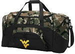 Official West Virginia University Camo Duffel Bags