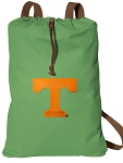 Tennessee Vols Cotton Drawstring Bag Backpacks Cool Green