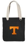 University of Tennessee Tote Bag RICH COTTON CANVAS Black