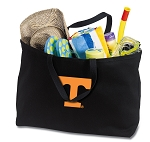 Tennessee Vols Jumbo Tote Bag Black