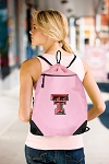 Texas Tech University Pink Drawstring Bag Backpack