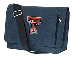 Texas Tech University Messenger Bags STYLISH WASHED COTTON CANVAS Blue