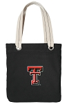 Texas Tech University Black Cotton Tote Bag