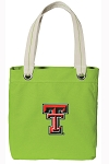 Texas Tech University NEON Green Cotton Tote Bag