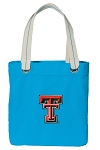 Texas Tech University NEON BLUE Cotton Tote Bag