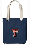 Texas Tech University Rich NAVY Cotton Tote Bag