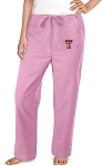 Texas Tech University Pink Scrubs Pants Bottoms