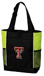 Texas Tech University Neon Green Tote Bag