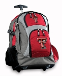 Texas Tech University Rolling Backpack Deluxe Red