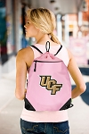 Central Florida Drawstring Bag Mesh and Microfiber Pink