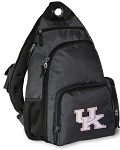 Pink UK Wildcats Logo Backpack Cross Body Style Gray