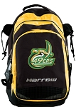 UNCC Harrow Field Hockey Lacrosse Backpack Bag Yellow
