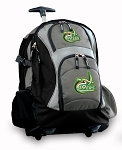 UNCC Rolling Backpack Black Gray