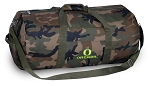 University of Oregon Camo Duffel Bags