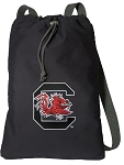 South Carolina Gamecocks Cotton Drawstring Bag Backpacks