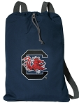 University of South Carolina Cotton Drawstring Bag Backpacks Cool Navy