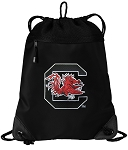 South Carolina Gamecocks Drawstring Backpack-MESH & MICROFIBER