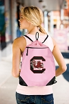 University of South Carolina Drawstring Bag Mesh and Microfiber Pink