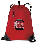 South Carolina Gamecocks Drawstring Backpack MESH & MICROFIBER Red