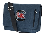 South Carolina Messenger Bags STYLISH WASHED COTTON CANVAS Blue