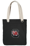 South Carolina Gamecocks Tote Bag RICH COTTON CANVAS Black