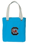 South Carolina Tote Bag RICH COTTON CANVAS Turquoise