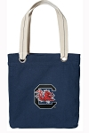 University of South Carolina Tote Bag RICH COTTON CANVAS Navy