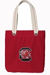 South Carolina Gamecocks Tote Bag RICH COTTON CANVAS Red