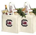University of South Carolina Shopping Bags South Carolina Gamecocks Grocery Bags 2 PC SET