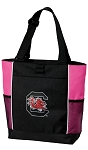 South Carolina Gamecocks Neon Pink Tote Bag