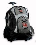 South Carolina Gamecocks Rolling Backpack Black Gray