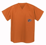 UTEP Miners Scrubs Top Orange Shirt-