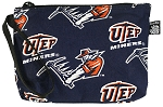 UTEP Miners Makeup Pouch Travel Clutch Coin Purse Wristlet