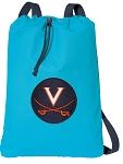 UVA Cotton Drawstring Bag Backpacks Blue