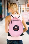 University of Virginia Drawstring Bag Mesh and Microfiber Pink