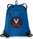 UVA University of Virginia Drawstring Bag MESH & MICROFIBER Royal