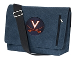 UVA University of Virginia Messenger Bags STYLISH WASHED COTTON CANVAS Blue