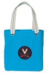 UVA Tote Bag RICH COTTON CANVAS Turquoise