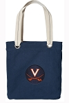 UVA University of Virginia Tote Bag RICH COTTON CANVAS Navy