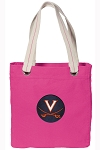 UVA Tote Bag RICH COTTON CANVAS Pink
