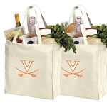 University of Virginia Shopping Bags UVA Grocery Bags 2 PC SET