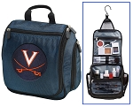 UVA Hanging Travel Toiletry Bag or University of Virginia Shaving Kit Organizer for Him Navy