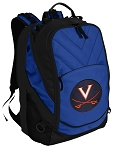 UVA University of Virginia Deluxe Computer Backpack Blue