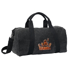 UVA Peace Frog Duffel RICH COTTON Washed Finish Black