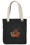 UVA Peace Frog Tote Bag RICH COTTON CANVAS Black